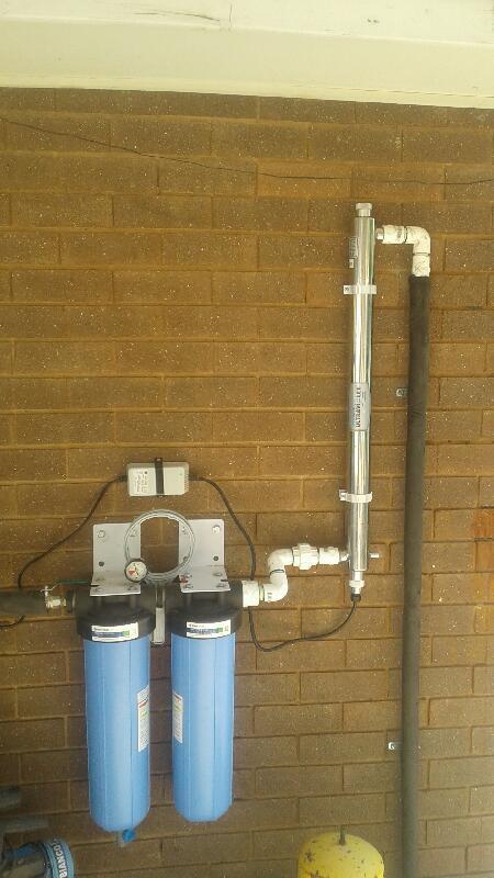 1 micron UV rainwater system
