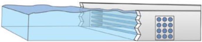 Open-Channel UV Lamp Array Diagram